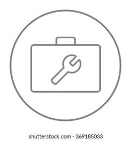 Toolbox line icon.