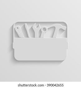 toolbox paper vector icon