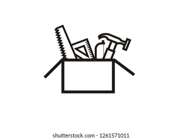toolbox simple outline icon