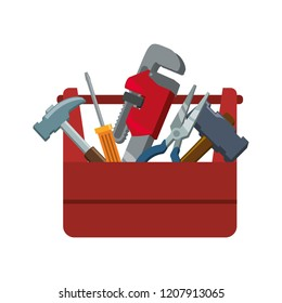 toolbox with tools icons