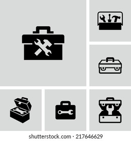Toolbox Tools Vector Flat Black Icons