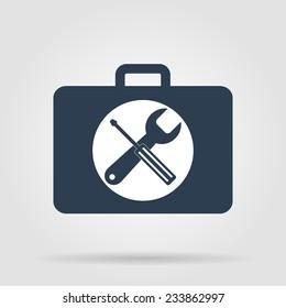 Toolbox vector icon. Flat vector illustrator Eps