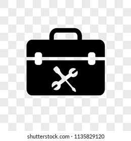 Toolbox vector icon on transparent background, Toolbox icon