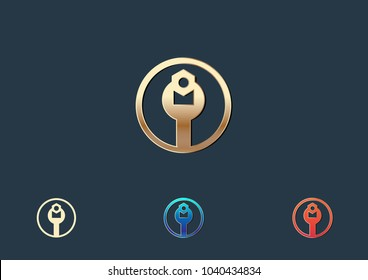 Toolkits Logo Template Design Vector