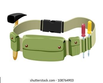 Tools belt isolated on white