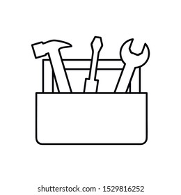 Tools Box line icon. concept web buttons. vector illustration. Outline design style