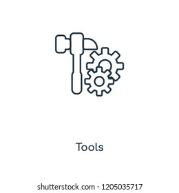 Tools concept line icon. Linear Tools concept outline symbol design. This simple element illustration can be used for web and mobile UI/UX.