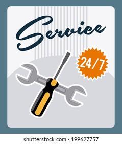 Tools design over blue background, vector illustration