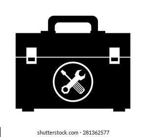 Tools design over white background, vector illustration.