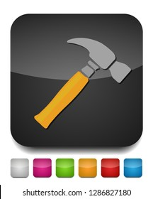 tools, hammer icon, hammer construction, hammer isolated