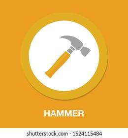 tools, hammer icon, hammer construction, hammer isolated