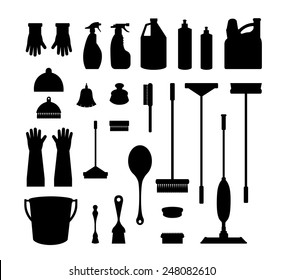 The tools of housecleaning
