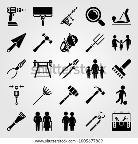 Tools Icon Set Vector Tool Box Stock Vector Royalty Free