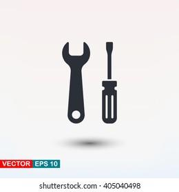 Tools icon, vector