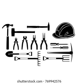 tools icon vector industry collection black mechanic