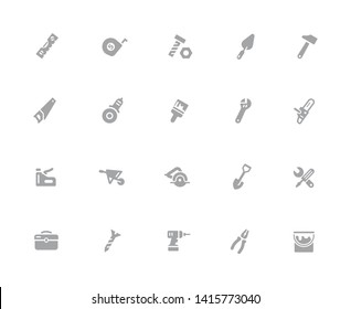 Tools Icons // 32 pixels Icons White Background - Vector icons designed to work in a 32 pixel grid at ten percent.