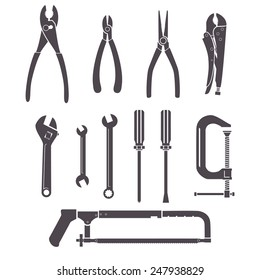 Tools icons, vector illustration set collection