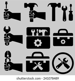 Tools icons.vector