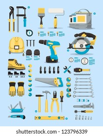 tools info graphic elements,vector icons