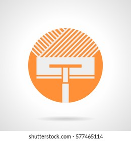 Tools for renovation flooring works. Orange round flat style icon