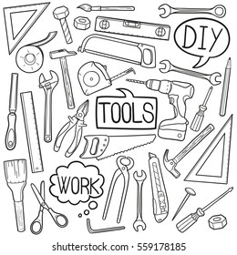 Tools Repair Doodle Icons