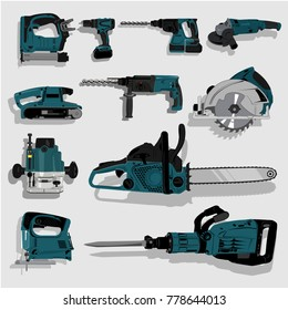 tools, saw electric, drill hand industrial construction machine drilling occupation, circular, milling, jigsaws, saw, chainsaw, jackhammer, nailer