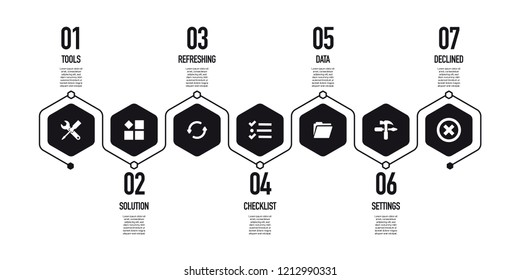 TOOLS AND SETTING INFOGRAPHIC CONCEPT