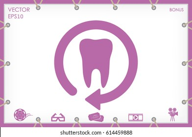 tooth arrow, icon vector illustration eps10 - Shutterstock ID 614459888
