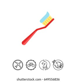 Tooth Brush Vector Icon
