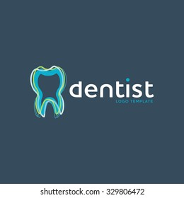 Tooth care logo. Dentist logo. Medical logo. Oral care logo. Tooth logo
