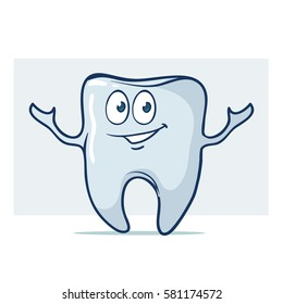 Tooth, cartoon characters, vector illustration