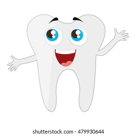 tooth dental healthcare isolated icon vector illustration design