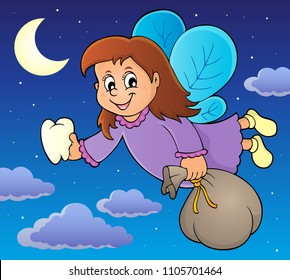 Tooth fairy theme image 2 - eps10 vector illustration.