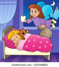 Tooth fairy theme image 5 - eps10 vector illustration.