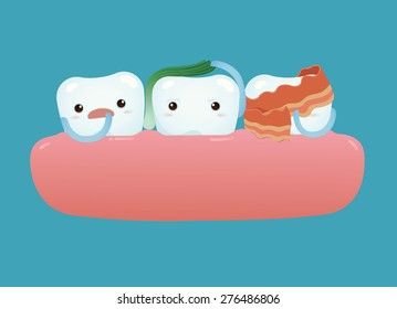 Tooth have food particles