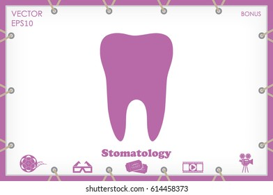 tooth icon - Shutterstock ID 614458373