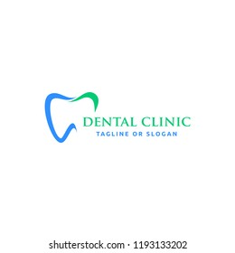 Tooth icon for orthodontics or dental clinic logo