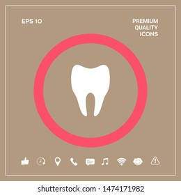 Tooth Icon symbol. Graphic elements for your design