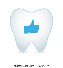 Tooth illustration with an icon