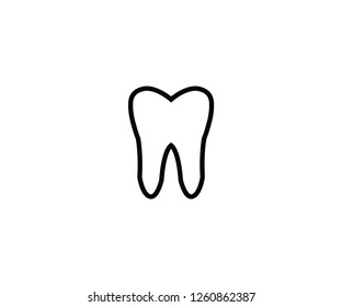 Tooth symbol mouth dental icon
