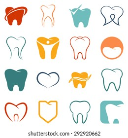 Tooth, teeth vector icons set