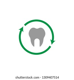Tooth and two arrow icon. Element of Dental Care for mobile concept and web apps. Detailed Tooth and two arrow icon can be used for web and mobile