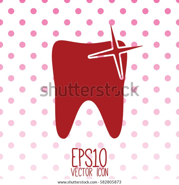 Tooth vector icon. Flat style for graphic and web design, Modern simple vector sign. Internet concept. Trendy symbol for website design web button, mobile app.