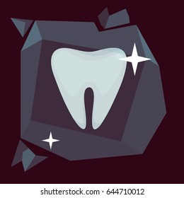 Tooth vector illustration: Cold