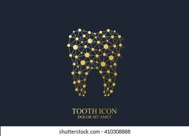 Tooth vector logo template. Medical design. Dentist office icon. Oral care dental and clinic