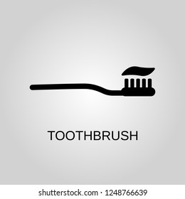 Toothbrush icon. Toothbrush concept symbol design. Stock - Vector illustration can be used for web