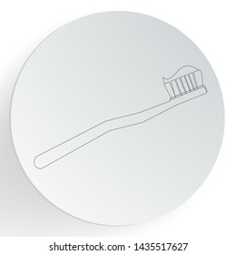 Toothbrush icon. Dental care concept. vector illustration.