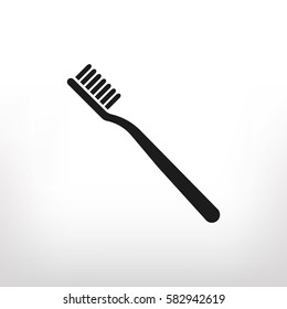 Toothbrush icon, vector