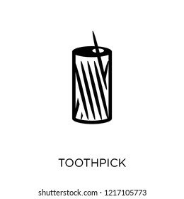 Toothpick icon. Toothpick symbol design from Hygiene collection. Simple element vector illustration on white background.