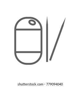 Toothpick icon vector